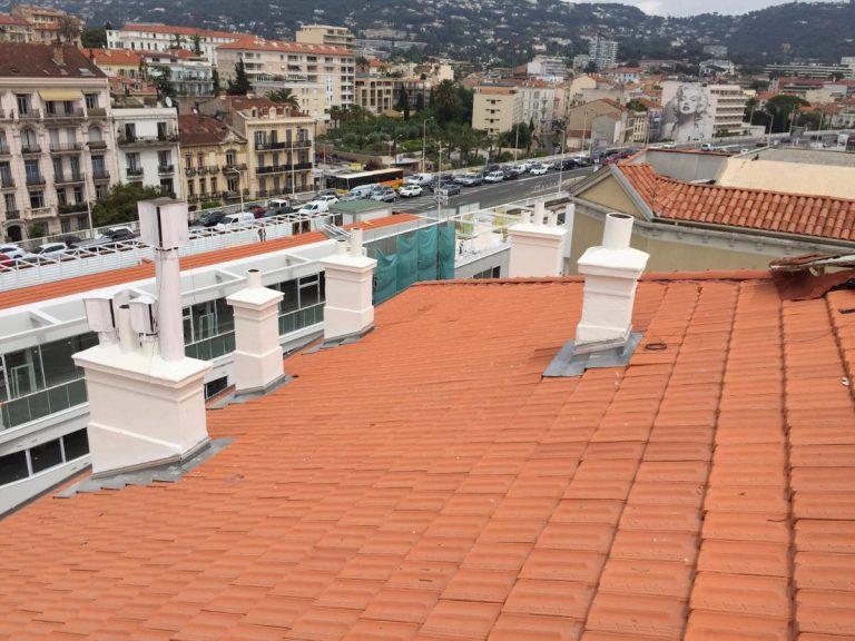 Chantier Le Louvre Cannes - Tuiles Marseille rouge 6