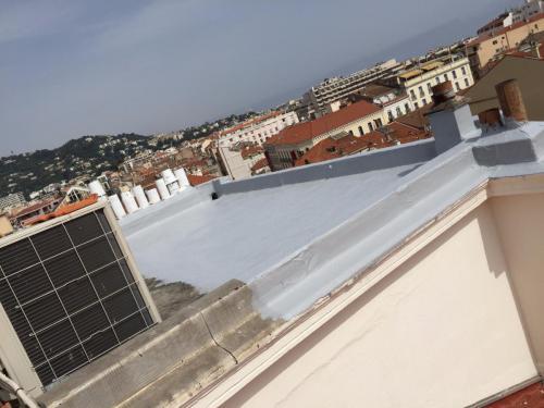 Chantier Le Louvre à Cannes - Etanchéité liquide Toit Terrasse 7